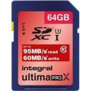 Card Memorie Integral MicroSDXC Ultima Pro 64GB Clasa 10 inmsdx64g10-95/60u1