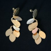 Earring Gold Plated Jewelry Semi Large Fluffy