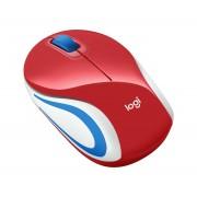 Logitech M187 piros optikai vezeték nélküli USB Mini Egér (2 év garancia)