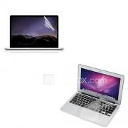 ultra dunne TPU soft-toetsenbord beschermer cover beschermende helder scherm guard voor 13,3 ''/15.4'' macbook pro retina