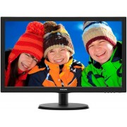 "Monitor TN LED Philips 21.5"" 223V5LSB2, Full HD (1920 x 1080), VGA, 5ms (Negru) + Lantisor placat cu aur cu pandantiv in forma de lup de mare"