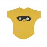 Tricou Happy Mask galben, 1-2 ani