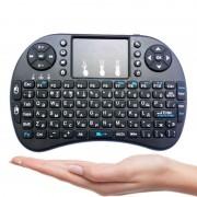 Mini Clavier sans fil 2.4G rétroéclairé - Portable - Pavé Tactile Air Mouse pour PC Android TV Box - Noir