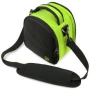 (Lime Green) Laurel VG Camera Bag w/ Removable Shoulder Strap for Nikon Coolpix P520 / L820 / D7100 / D600 / D3200 / D800 / D800E / P510 / L810 DSLR Digital Cameras