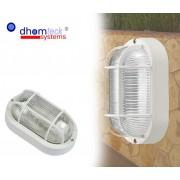Plafoniera applique OVALE griglia tartaruga bianca campana in vetro E27 Dhomteck
