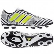 adidas Fußballschuh NEMEZIZ 17.4 FxG - ftwr white/solar yellow/core b