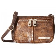 Kenneth Cole Reaction Wooster Street Small Flap Crossbody Chocolate
