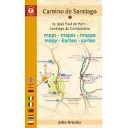 Camino de Santiago Maps - Mapas - Mappe - Mapy - Karten - Cartes by John Brierley