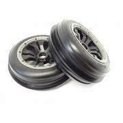 King Motor Front Buggy Sand Wheels (Set Of 2) Fits Hpi Baja 5 B, Ss, 2.0, And King Motor And Rovan Baja Buggies