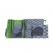 Chele and Maye Whale Lime Green Nappy Bag