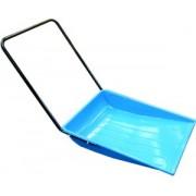 Pala a slitta blu in metallo 12/10 con bordo rinforzato 66x84,5