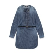 【60%OFF】DSQUARED2 ベルト付 リボン タック 長袖ドレス インディゴ 8y ベビー用品 > 衣服~~ベビー服