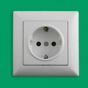 VISAGE Csatlakozóaljzat védőföldelt IP20 Fehér - Gunsan