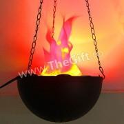 Lampa electrica care imita flacarile