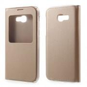 Husa Flip Cu Fereastra Samsung Galaxy A3 A320F Gold
