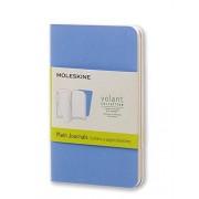 Moleskine Volant Journal (Set of 2), Extra Small, Plain, Powder Blue, Royal Blue, Soft Cover (2.5 X 4)