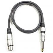 Adam Hall Kabel 1 m Mikrofonkabel XLR female auf 6,3 mm Klinke mono