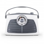 TREVI RA763 Radio portable rétro AM-FM Blanc