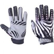 Bicycle Motorcycle Zebra Stripe Pattern Full Finger Warm Bike Sports Gloves Size XL