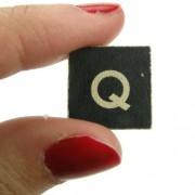 Magnético-Figura decorativa de la letra Q