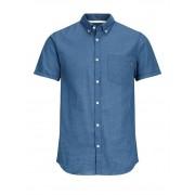 Jack & Jones Dirk Shirt Ss Ensign Blue Herrskjorta