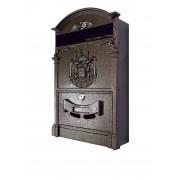 Poštová schránka plechová hnedá