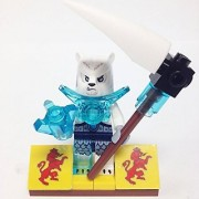 MinifigurePacks: Lego Legends of Chima Bundle (1) ICEPAW (1) FIGURE DISPLAY BASE (1) FIGURE ACCESSORY