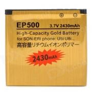 """""""EP-500-G Sustitucion de la bateria """"""""2430mAh"""""""" para Sony Ericsson U5i / U8i / X8 / E15i / Vivaz Pro - Golden"""""""