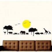 Walltola Wall Decal- Jungle Safari Silhouette 6932 ( Finished Size 160cm x 60cm)