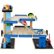 Hape - E3005 - Jeu d'Imitation en Bois - Garage - Garage de Ville à Etages