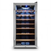 Klarstein Vivo Vino 26 Wine Refrigerator 26 Bottles 88 Litre Stainless Steel LED Black