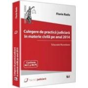 Culegere De Practica Judiciara In Materie Civila Pe Anul 2014 - Tribunalul Hunedoara - Florin Radu