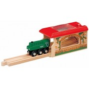 Maxim Wooden Railway Single Engine Shed Brio and Thomas Compatible