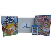 Board Games for Kids Gift Basket by Level Up Box - 3 Games - Candyland Chutes and Ladders and Random Card Game for Kids