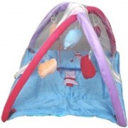 ROYAL SHRI OM BABY VELVET BEDDING SET WITH MOSQUITO NET(SKYBLUE) (4004gym)