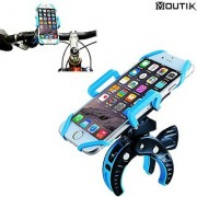MOUTIK Bike Bicycle Handlebar Phone Mount Smart Phone Holder with Elastic Band Motorcycle Scooter baby strollers Roll ba