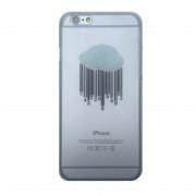 Stevig transparant wolken hoesje iPhone 6/6s Hardcase Barcode regen doorzichtig