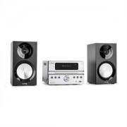 LTC CDM90-SI mikro HiFi sztereó rendszer, 40 W, bluetooth, USB, CD, FM/AM, ezüst (CDM90-SI)