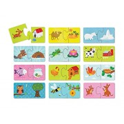 Babys First Puzzle -12 Unique 2-pc Where Animals Live Puzzles with Storage Container