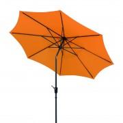 Parasol Harlem 270 - aluminium/antracietkleurig polyester/mandarijnkleurig, Schneider Schirme