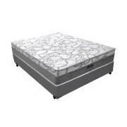 Conjunto Box Colchão Pelmex Molas Pocket Dínamo Luxo + Cama Box Nobuck Cinza - Conjunto Box King Size - 193 x 203