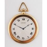 Zlaté kapesní hodinky Cartier zdobené diamanty