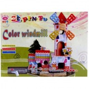 Lionsland Color Windmill 3D Construction Puzzle Toy for Kids -Attention Building -Easy to Assemble-Min Age-3 Years
