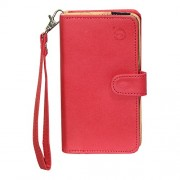 J Cover A9 Nillofer Leather Carry Case Cover Pouch Wallet Case For Apple iPhone 7 Plus 256GB Red