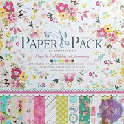 """AsianHobbyCrafts Designer Paper Sweet Life 24 patterned papers(12"""" x12"""") and 3 Die Cut Sheets + Origami Sheets (100 x 100mm),10Pcs"""