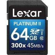 Card de memorie Lexar SDXC Platinum II 300x 64GB, UHS-I, 45MB/s (Clasa 10)