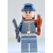 LEGO Lone Ranger Theme - Calvary Soldier 2 (Smirk Expression) with Gray Army Rifle