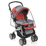 Stroller Cover for Rain Wind and Dirt - Keep Baby Dry and Clean When Going for a Walk - See Thru Guard - Fits All Strollers