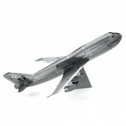 SET ASAMBLARE MACHETA METALICA AVION COMERCIAL BOEING 747 - METAL EARTH (ST12XMMS004)
