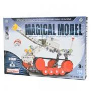 XW XW128883 meta Tank modelo de juguete para los ninos - Red + Silver